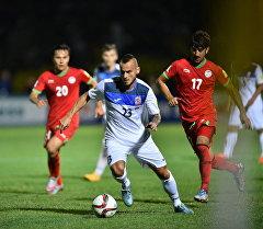 Кыргызстан — Таджикистан футбол беттеши учурунда. Архив