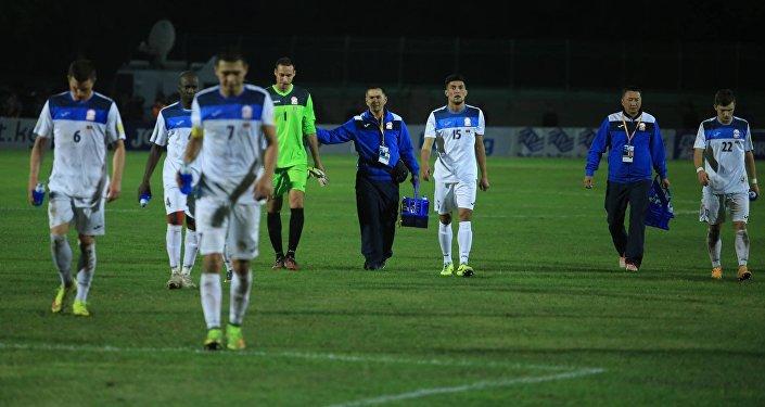Архивное фото футболистов сборной Кыргызстана по футболу