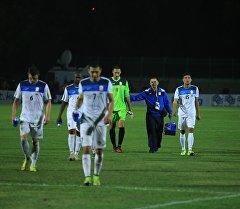 Футболисты сборной Кыргызстана по футболу после матча. Архивное фото