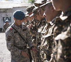 Военнослужащий проверяет формы новобранцев. Архивное фото