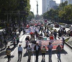 Мексиканын Коомдук билим берүү министрлиги өлкө боюнча массалык нааразылык акциялары өттү