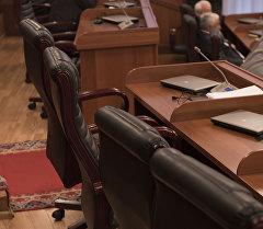Жогорку кеңештеги депутаттын жумуш орду, архивдик сүрөт