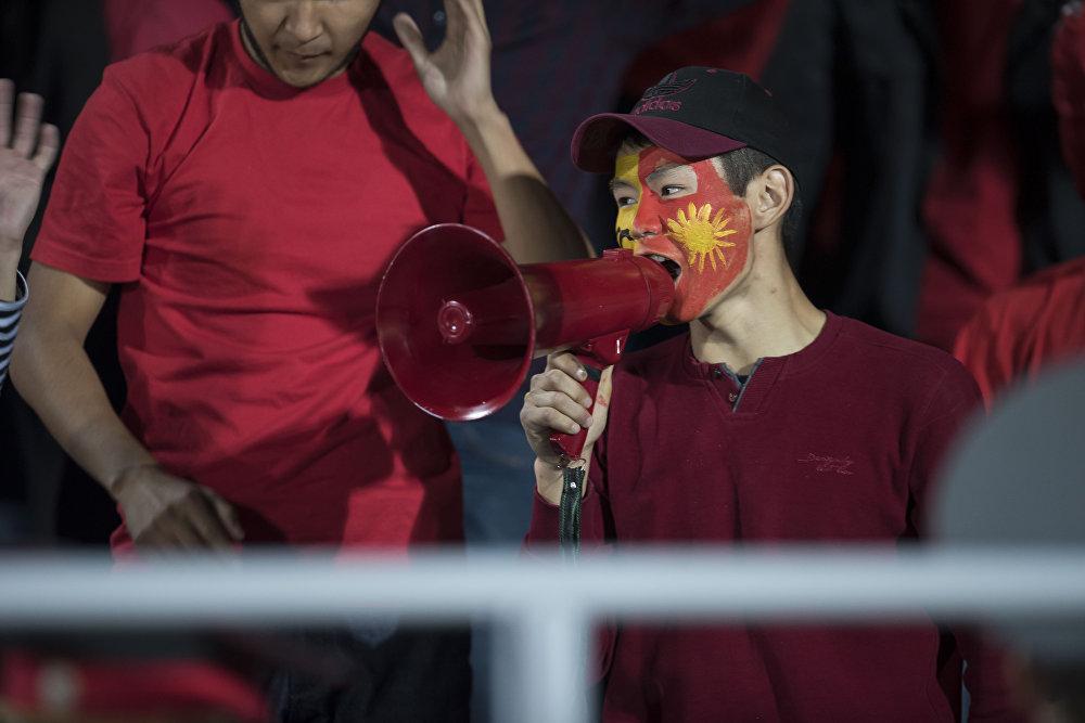 Болельщики не обходятся обычными свистами и апплодисментами. Зритель поддерживает отечественную сборную и с помощью рупора (мегафона)