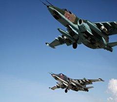 Сириядагы Россиянын Су-25 учактары. Архив