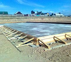 Строительство новой школы в новостройке Калыс-Ордо.
