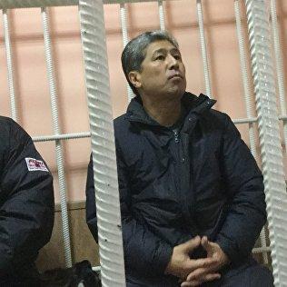 Бывший руководитель аппарата президента Кыргызстана Данияр Нарымбаев в суде. Архивное фото