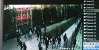 №38 мектепке кол салуу — сырткы видеобайкоо камерасынан кадрлар