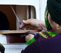 Выдача пенсий в почтовом отделении №51 Грозного