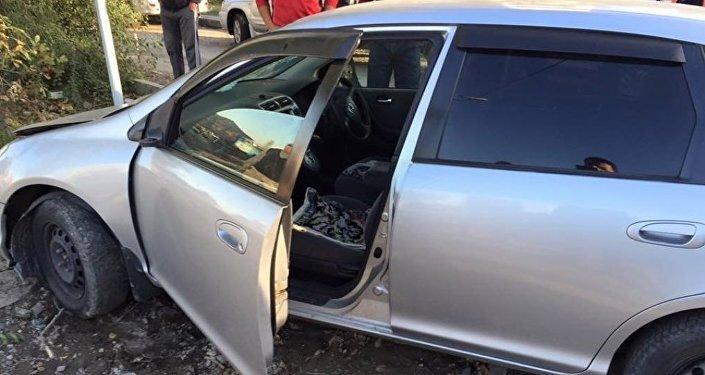 Водитель, сбивший девочку насмерть и скрывшийся, оставив автомобиль, задержан сотрудниками ДПС ГУВД Бишкека