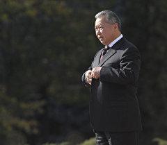 Өлкөдөн качып кеткен мурунку президент Курманбек Бакиев. Архив