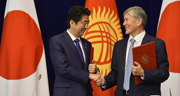 Визит главы правительства Японии Синдзо Абэ в Кыргызстан. Архивное фото