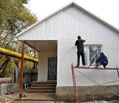 Строящийся дом для семьи Шукуровых.