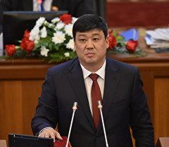 Жогорку Кеңештеги Өнүгүү-Прогресс фракциясынын лидери Бакыт Төрөбаев. Архив
