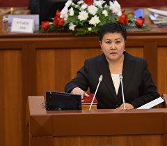 Депутат Есенбаева Бакыт. Архив