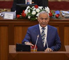 Жогорку Кеңештин депутаты Кубанычбек Жумалиев. Архивдик сүрөт