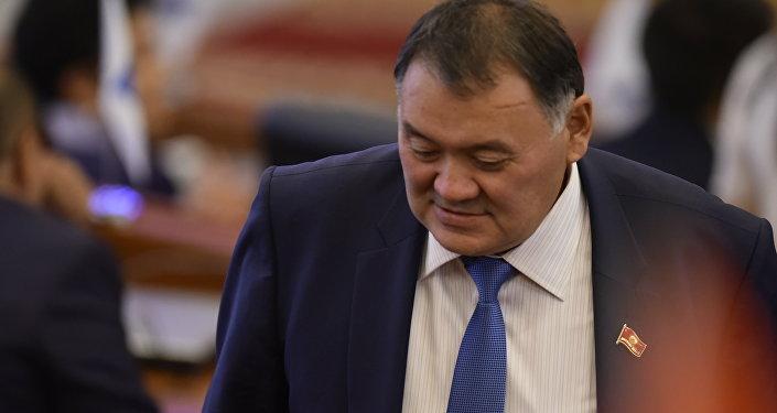 Депутат ЖК КР от партии Онугуу-Прогресс Камчыбек Жолдошбаев. Архивное фото