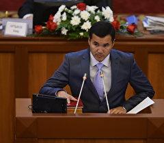 Архивное фото депутата ЖК от фракции СДПК Узарбека Жылкыбаева