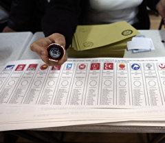 В одном из избирательных участков Турции.