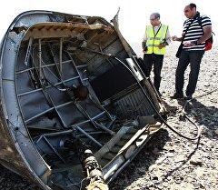 Обломки самолета Airbus A321 авиакомпании Когалымавиа. Архивное фото
