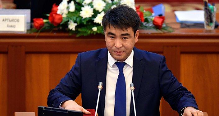 КСДП фракциясынын депутаты Жанар Акаевдин архивдик cүрөтү