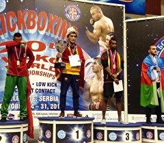 Кикбоксинг боюнча дүйнө чемпиону болгон Уланбек Касымбеков.