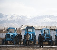 Нарынские тракторы . Архивное фото