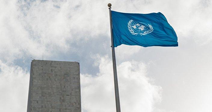 Флаг у Штаб-квартиры ООН. Архивное фото