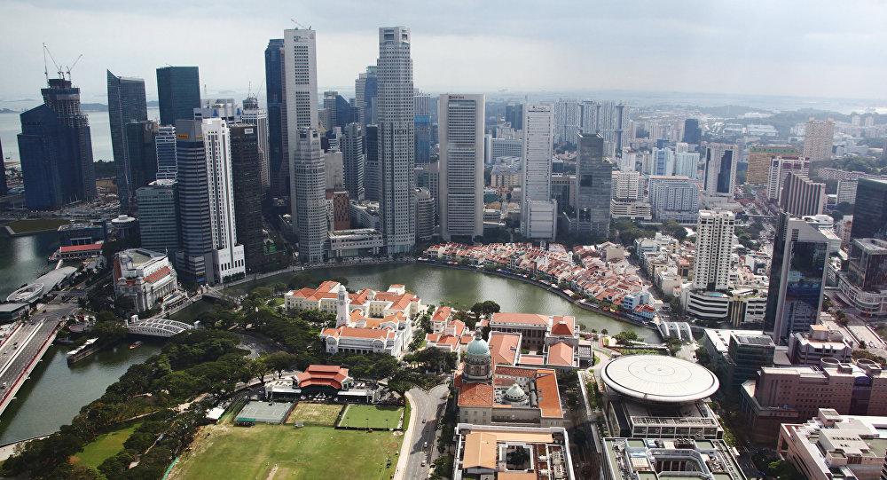 Вид на город Сингапур. Архивное фото