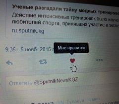Кнопка нравится на странице Твиттер.