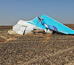 Кырсыкка учураган Airbus A321 учагынын сыныктары. Архив