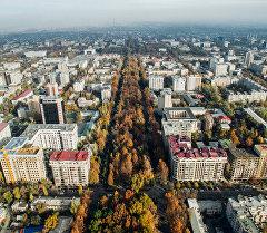 Бишкек шаары, бийиктиктен көрүнүш.