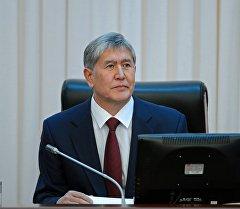 Кыргыз республикасынын президенти Алмазбек Атамбаев. Архив