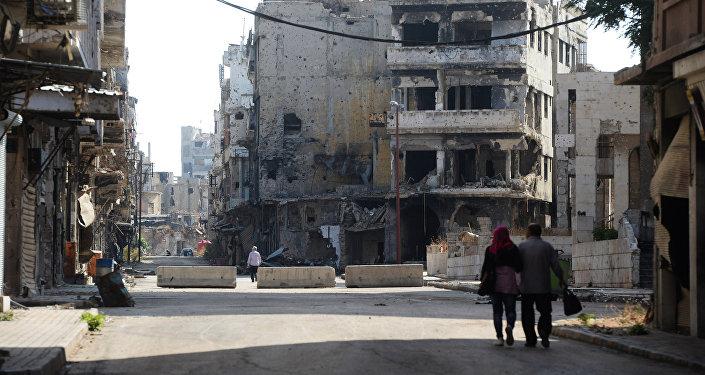 Сириядагы Хомс шаары. Архив