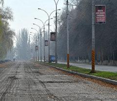 Бишкек — аэропорт Манас унаа жолундагы ремонт иштери. Архив