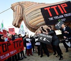 Бельгиядагы TTIP каршы акциялары. Архив