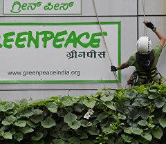 Офис международной экологической организации Greenpeace в Индии