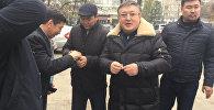 Ахматбек Келдибеков в первые минуты после объявления приговора