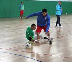 Кыргызстандын футзал боюнча курама командасы машыгууда.