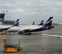 Аэрофлот авиакомпаниянын Airbus учактары. Архивное фото
