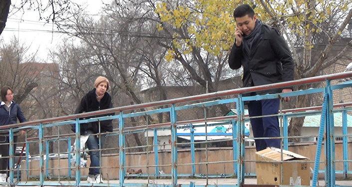 Парень пытается утопить щенка в реке — соцэксперимент в Бишкеке