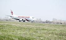 Самолет авиакомпании Эйр Кыргызстан заходит на посадку. Архивное фото