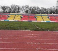 Реконструкция газона на стадионе Спартак.