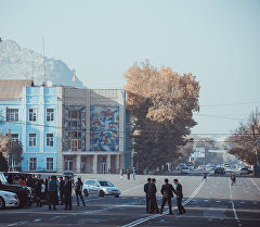 Ош шаарынын борбор аянты. Архивдик сүрөт