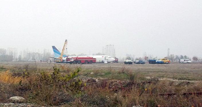Авария самолета Avia Traffic Company в Оше