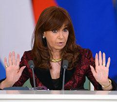Аргентинанын азыркы президенти Кристина Киршнер. Архив
