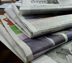 Кыргызстанда чыккан газеталар. Архив