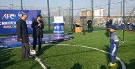 Удар по мячу на новом поле — глава АФК в Бишкеке