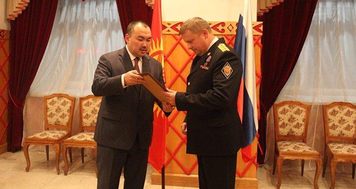 Глава московского Альфа в КР награжден нагрудным знаком ГКНБ