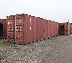 Мобильные дома из контейнеров . Архивное фото