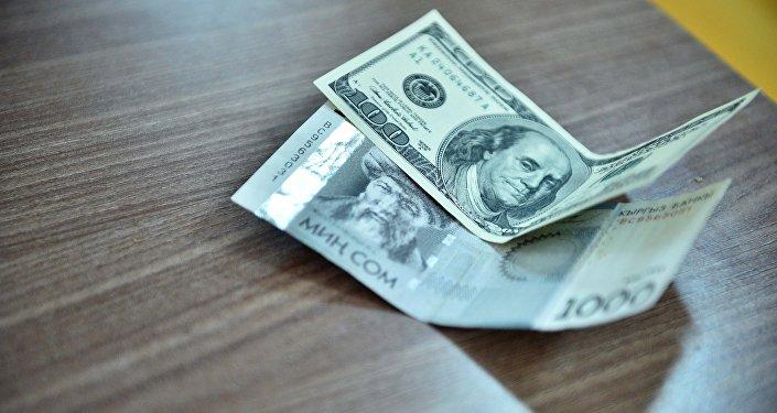 Рост доллара в Кыргызстане